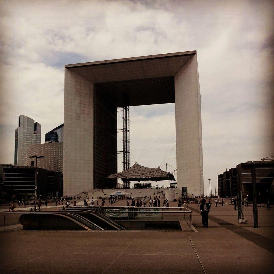 Architecture Built Structure Building Exterior City Tower Travel Destinations Tourism Paris France Paris, France  Capital Cities  Architecture La Défense La Grande Arche