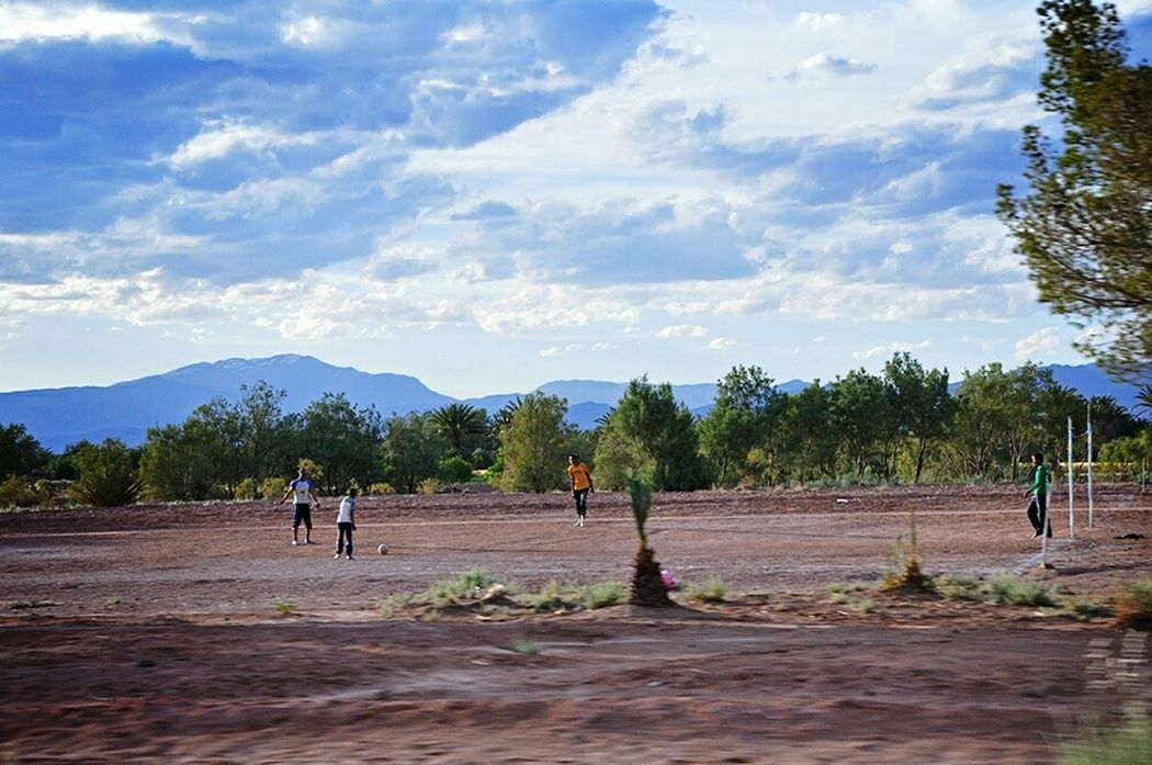 Football Fever Football Pitch In The Middle Of Nowhere Footballislife Kids Playing Football Childsplay Kids Having Fun Playing Football From My Point Of View Football Field Football Is Here Football Is Everywhere Malephotographerofthemonth Travel Photography From Where I Stand Football Life The Journey Is The Destination - Ouarzazate Morocco Africa Miles Away