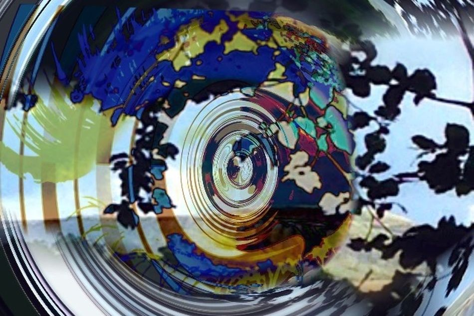 Edit Junkie Photo Montage See Through My Eyes My Vision Viewpoint Colourful Modern Leaves Sillhouette Visionary