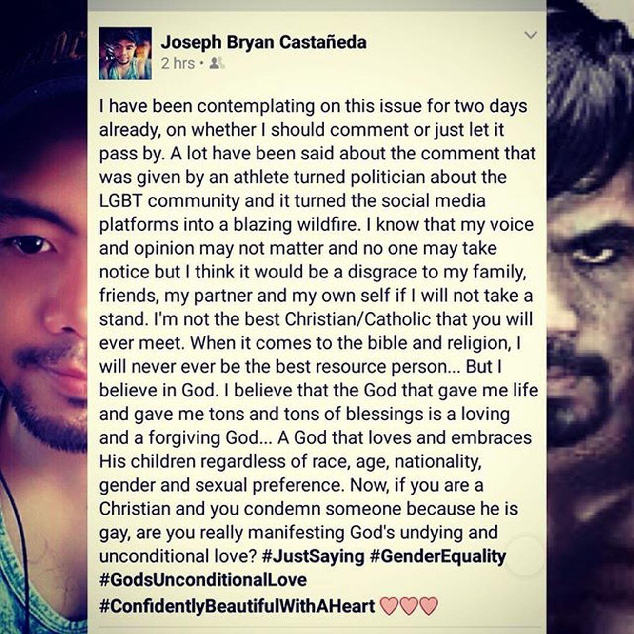 Justsaying GenderEquality GodsUnconditionalLove Confidentlybeautifulwithaheart Lovewins 😊