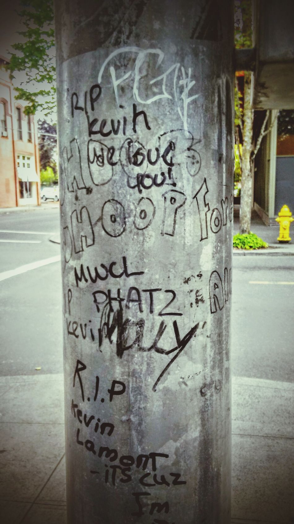Lamppost Tagged Check This Out Downtown 3rd Street Casual Home Town Pride Locals Walking Home EyeEm GalleryThe Mix Up Gang Activity Taking Photos The Street Photographer - 2016 EyeEm Awards