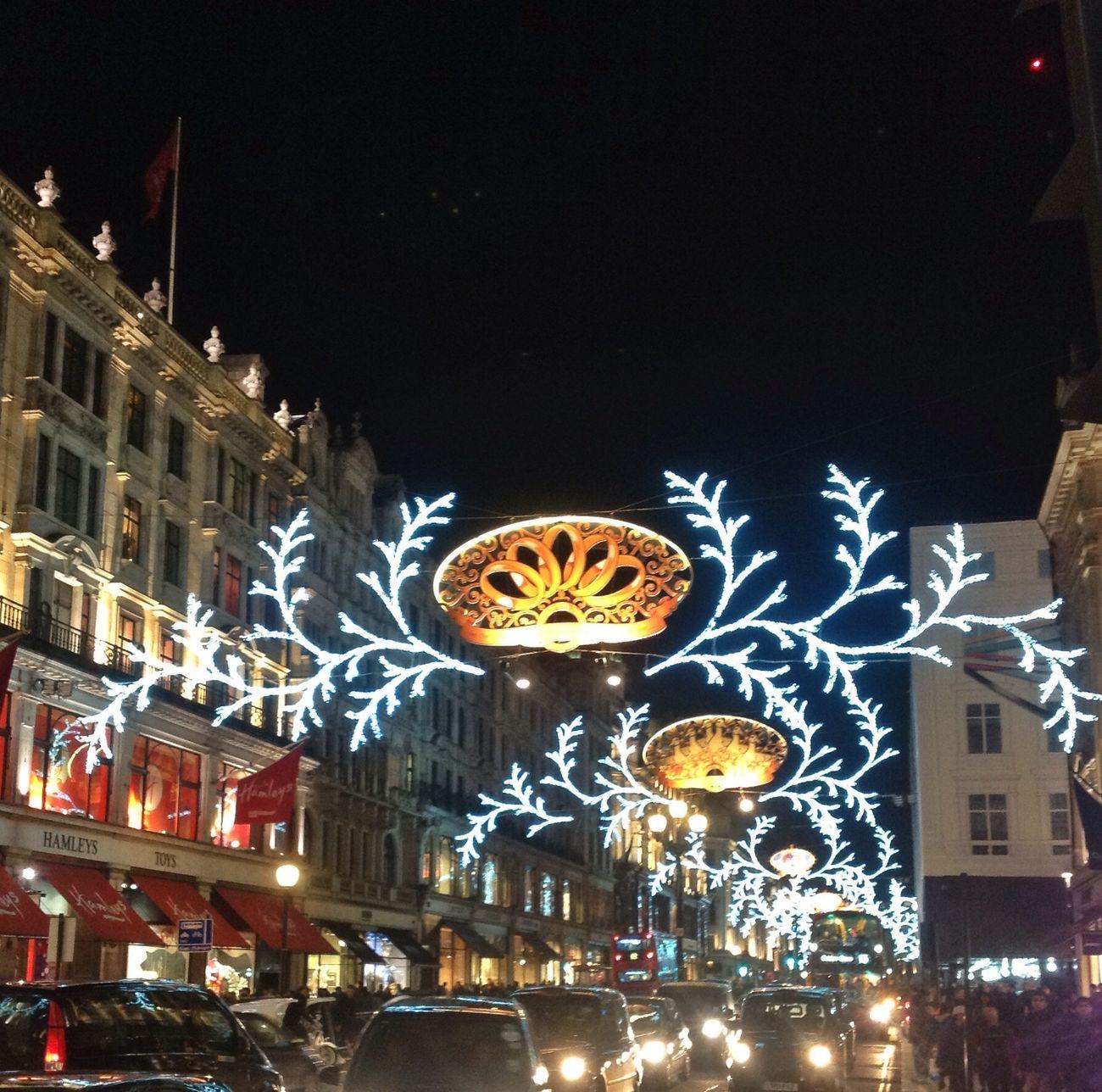 London Christmas Lights on Regentstreet Nightphotography