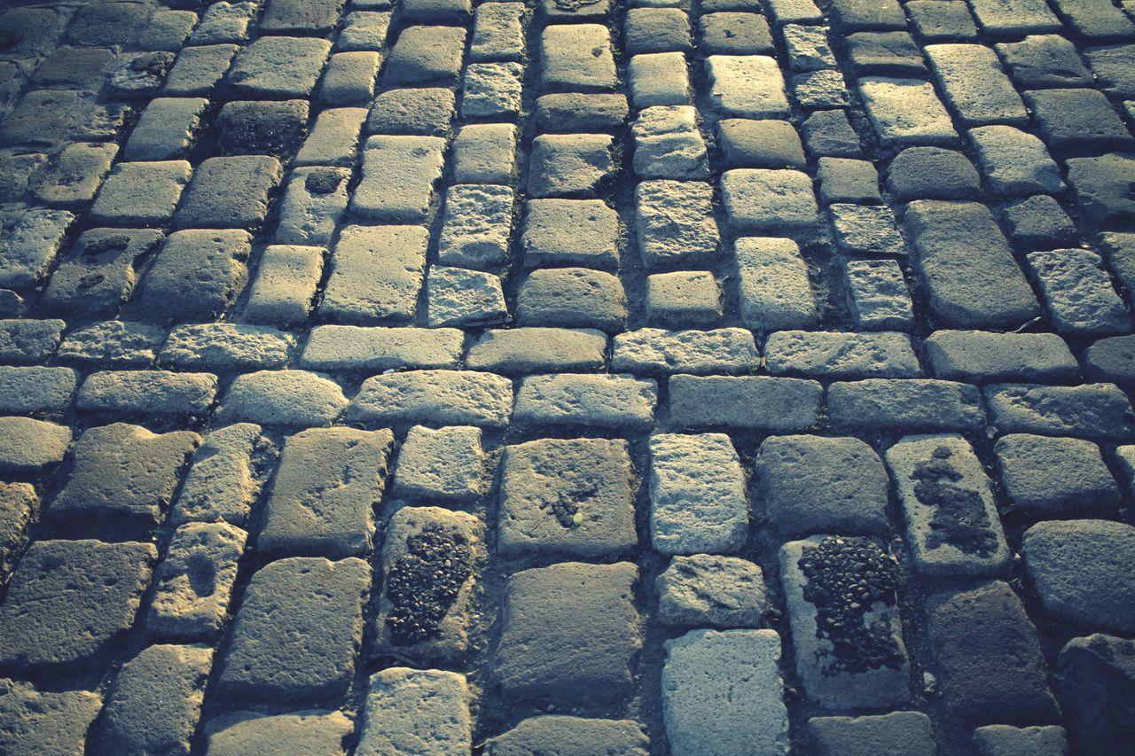 Cobbled street stones Road Street