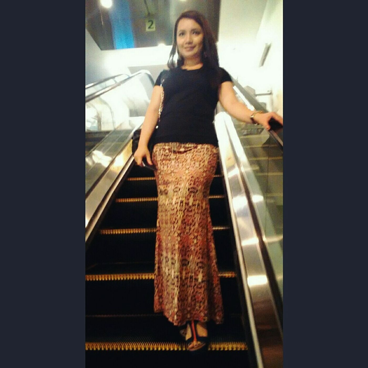 Heading to Majlis Sungkey organized by Ministry of Tourism Sarawak.I am wearing a maxi skirt motif of pua kumbu. Traditional motif by the Ibans. Puakumbu Iban Borneo Borneo Style Pua Kumbu Motif  Ootn Sarawakian