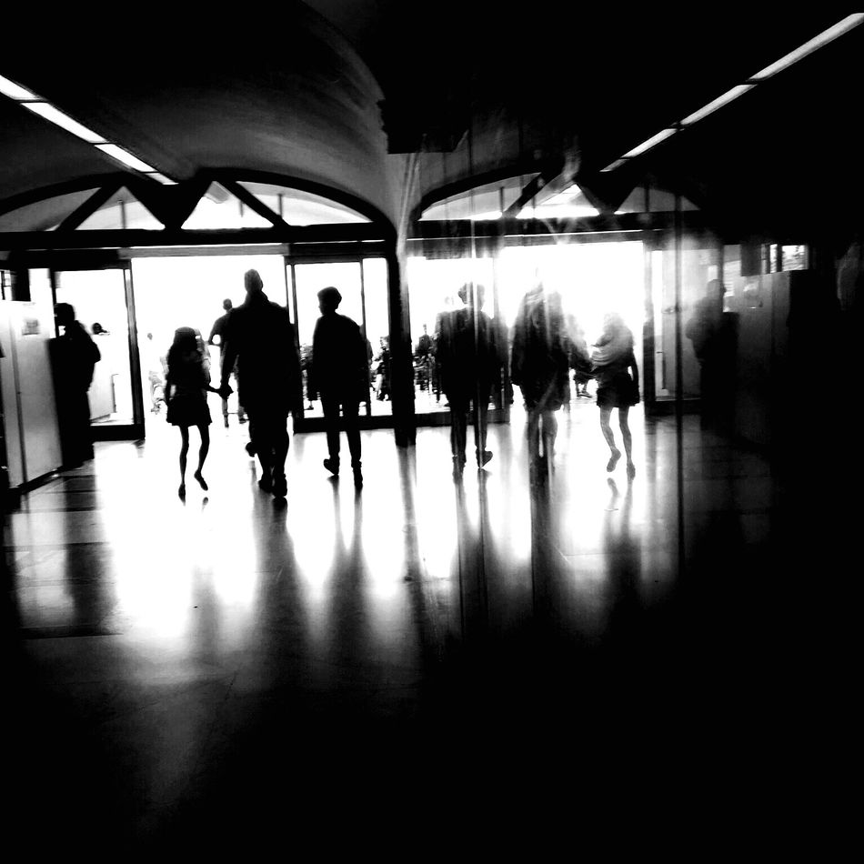 Daylight Indoors  Real People Travel Architecture Illuminated Architecture IPhoneography Blackandwhite Mobilephotography Italy
