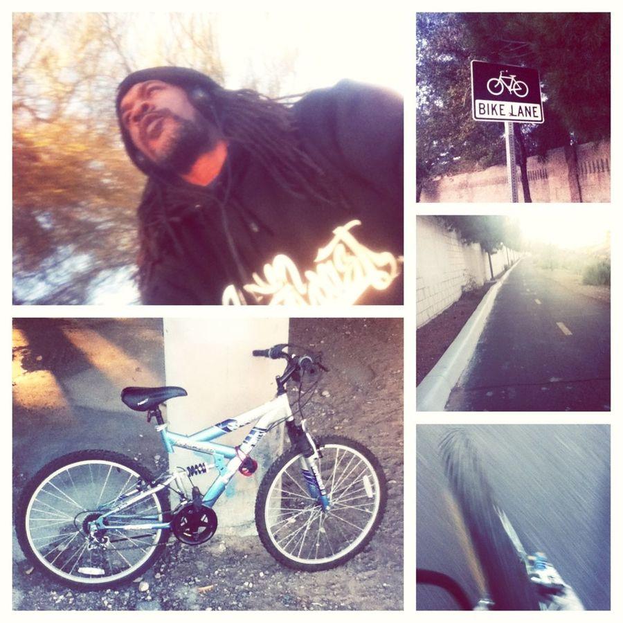 Biking In The Laneway