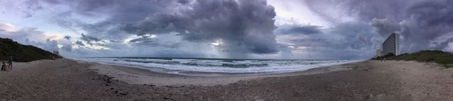 Outer bands of Hurricane Matthew 2016 Melbourne Beach, FL Panoramic Horizon Over Water Cloud - Sky Cloudy Oceanscape Storm Clouds Hurricane Matthew Hurricane Weather