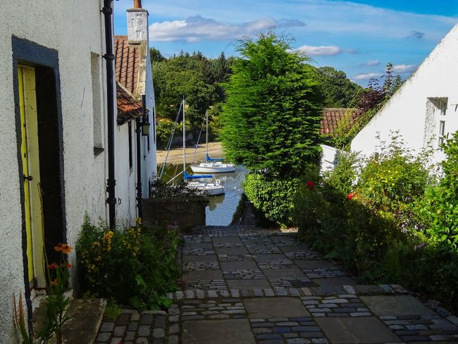 Old Town Street Photography Colorful Houses Country Life Landscape Countryside Sea View Edinburgh Cramond