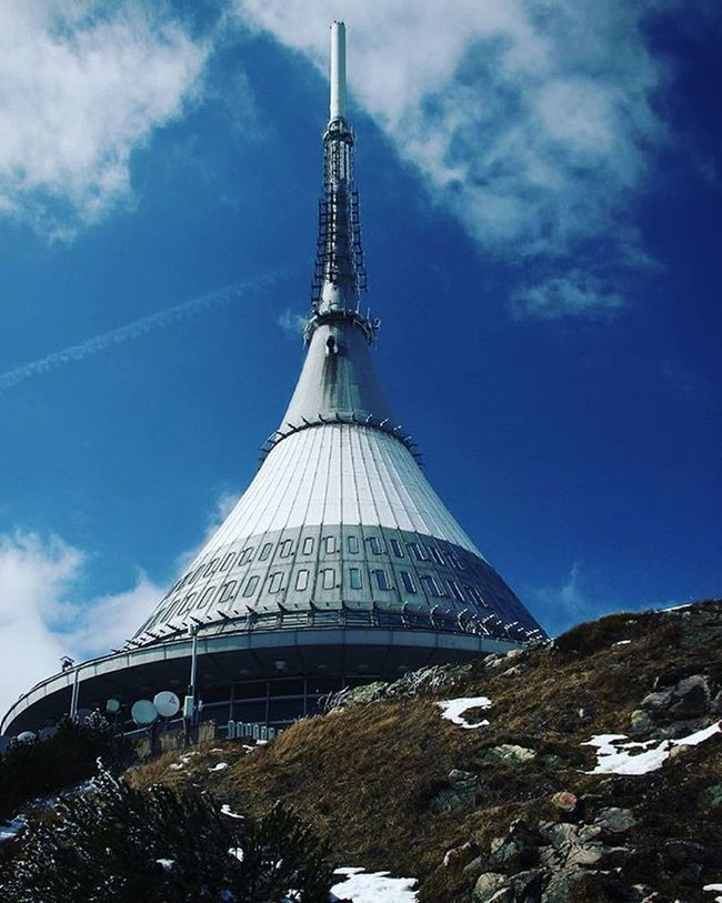 Czechrepublic Liberec Jested Tower Snow Ice Bluesky Clouds Favouriteplace Memories