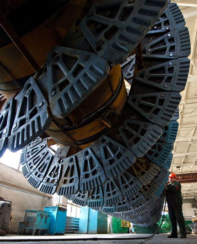Russia, Stary Oskol, Stoilensky Mining and processing plant, repair of equipment for beneficiation plant Architecture Blue Built Structure Day Metallurgy Modern Outdoors Russia россия Stary Oskoll Tourism Travel Destinations