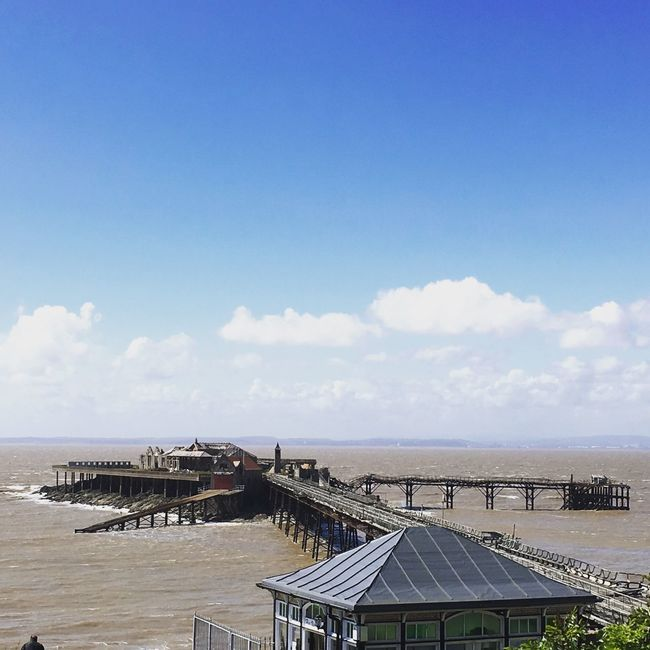 Out on the bike and grabbed this snap. Taken on an iPhone, you don't need super expensive cameras! Just have fun! Old Pier Weston-super-mare Pier Sky Sea No Filter, No Edit, Just Photography