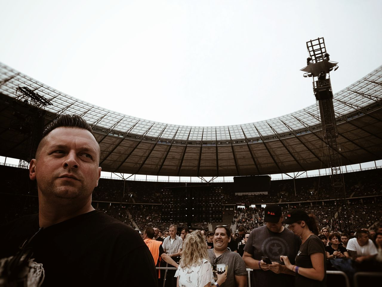 Waiting for the Legends Depeche Mode... Large Group Of People People Crowd Stadium Travel Destinations Adult Adults Only Day Outdoors Live Music Live Music Photography Live Gig Concert Music Is Life My Man Streetphotography Candid Candid Portraits Man Portrait Of A Man  Architecture Sommergefühle EyeEm Selects