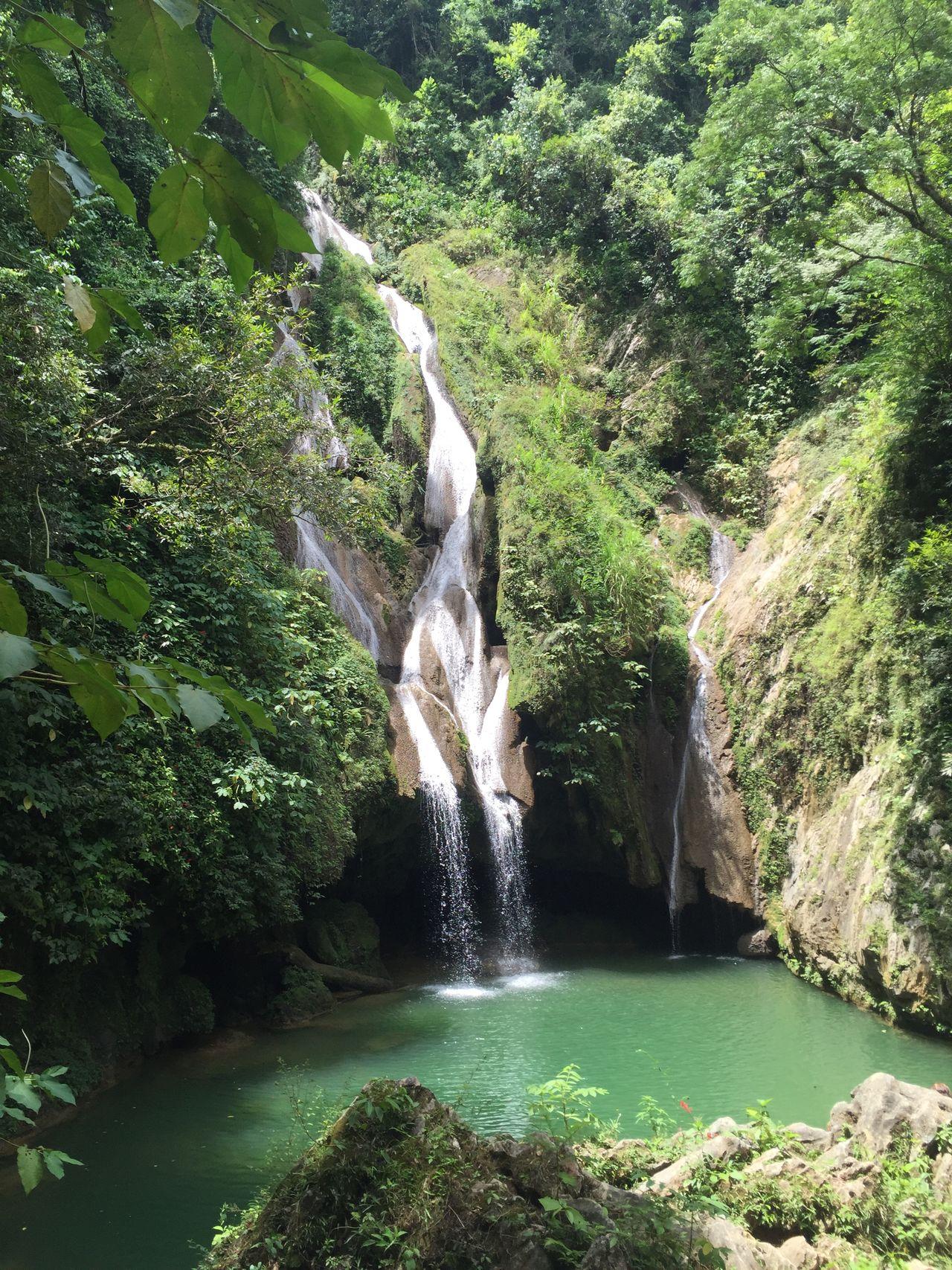 Vegas Grandes Waterfall, Topes de Collantes, Trinidad, Cuba #beautiful #cuba #landscape #nature #photography #naturelove #river #rocks #topesdecollantes #trinidad #trinidadcuba Green Color Motion Non-urban Scene Outdoors Water Waterfall