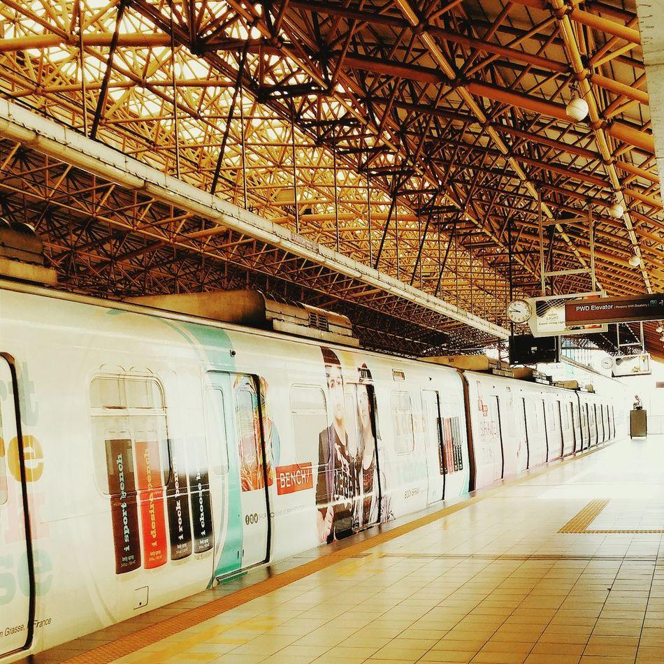 Manila, Philippines Eyeem Philippines Eyeem Streetphotography Lrt2 Train Station Transportation Trainphotography