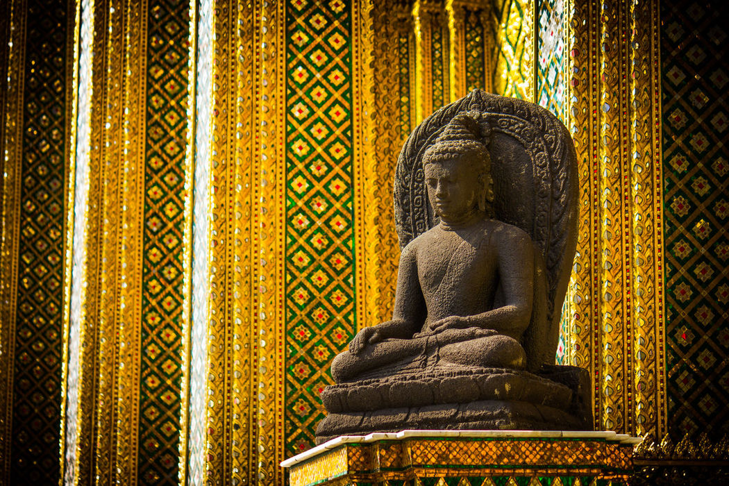 Art And Craft Bangkok Buddha Buddhism Cultures No People Peace Peace And Quiet Place Of Worship Religion Sculpture Spirituality Statue Thailand Travel Travel Photography Worldwide First Eyeem Photo Grand Palace Bangkok Thailand Make Love Not War Reiselust Reise Reisefotografie Kulturgut Spiritual Guide Neighborhood Map EyeEmNewHere EyeEm Selects Breathing Space