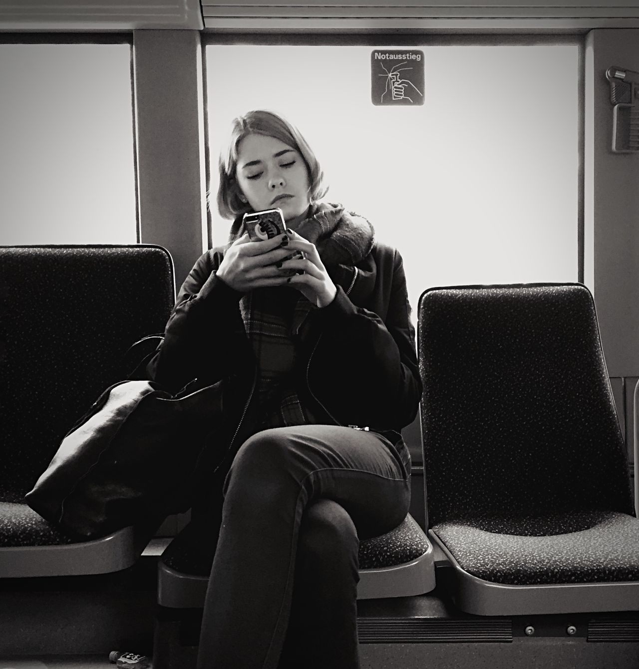 Streetphotography Portrait Mpro Blackandwhite Open Edit Berlin Mobilephotography.de The Street Photographer - 2015 EyeEm Awards Shades Of Grey