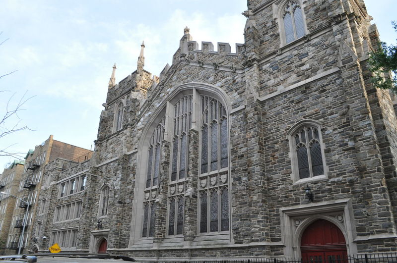 Abyssinian Baptist Church African American Baptist Church Arch Architecture Blue Building Building Exterior Built Structure Church City Cloud Cloud - Sky Day Exterior Façade Harlem  Harlem, NYC Historic History Through The Lens  Low Angle View No People Old Outdoors Red Door Sky