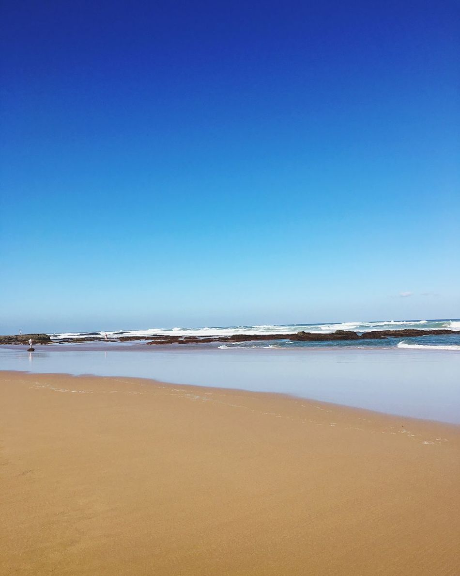 Sea Beach Blue Copy Space Clear Sky Water Nature Scenics Tranquility Beauty In Nature Sand Horizon Over Water Shore Tranquil Scene Outdoors No People Wave Day Portugal Algarve Aljezur