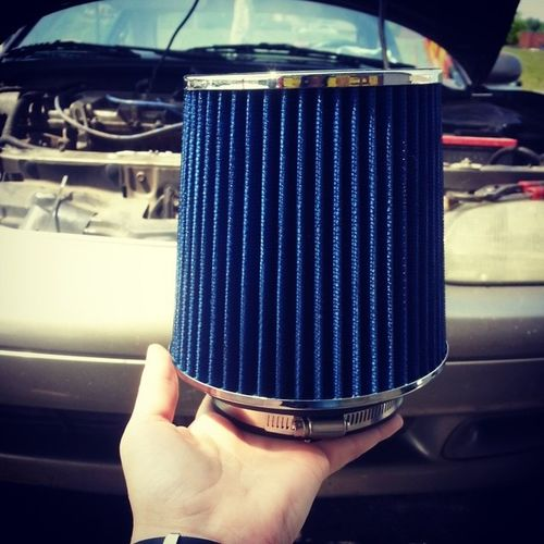 New project for the day. (: NewIntake NewAirFilter Mazda HateThisCar Filter