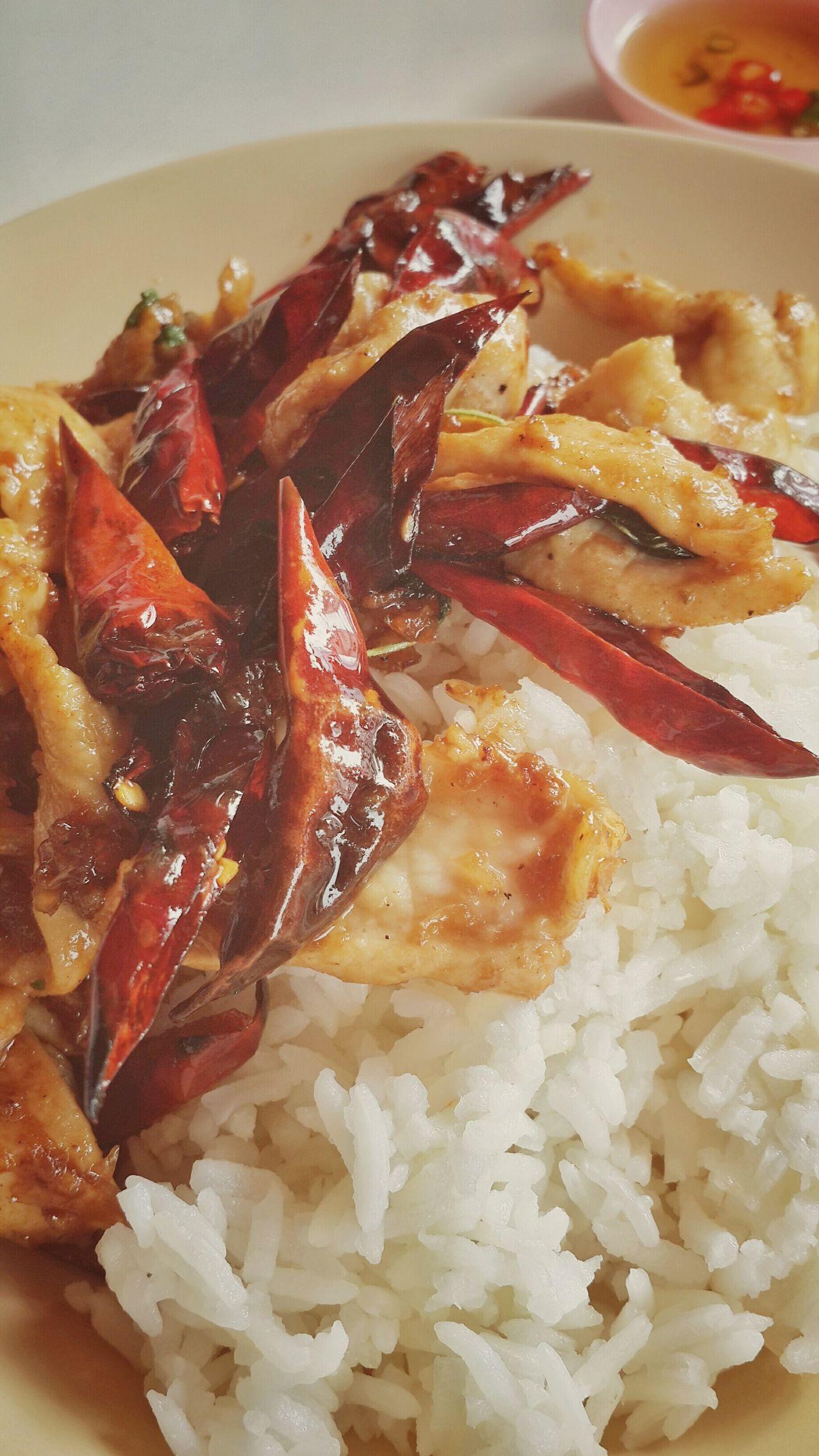ไก่ผักพริกแห้ง chicken with dried chilli Foodphotography Thaifood My World of Food My World Of Food
