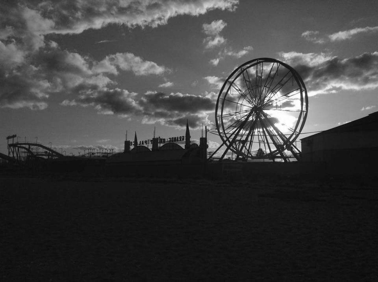 Oldorchard Oldorchard Oldorchardbeach Ferris Wheel Blackandwhite Beach Photography