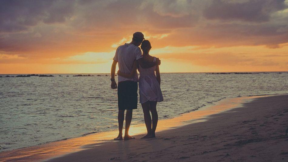 Beach Ocean Love Sunset