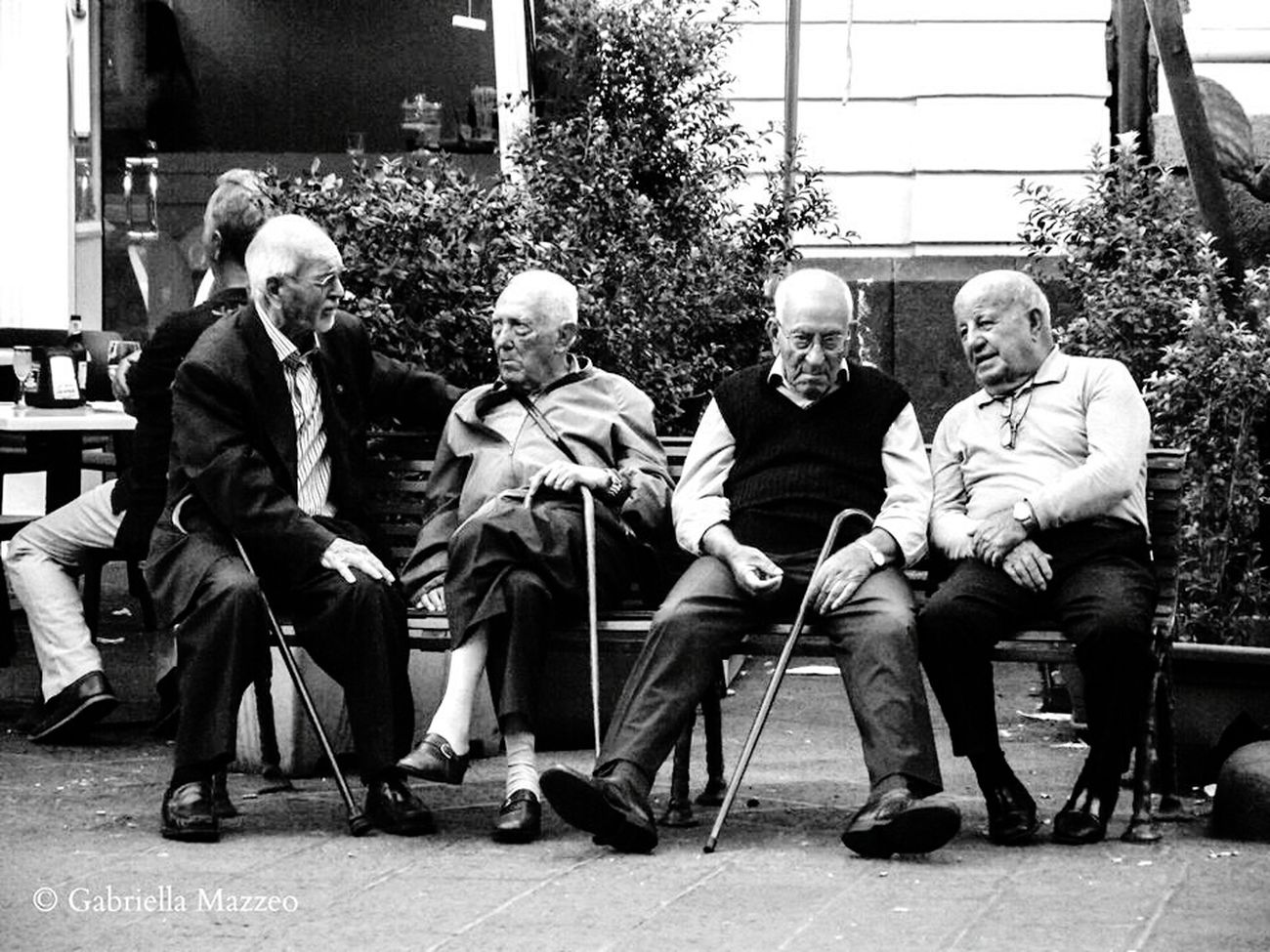 Old Style Brings Back Memories  Taking Photos Stolen Moments Old Men High Contrast Black & White Walking In The Street Sicily, Italy