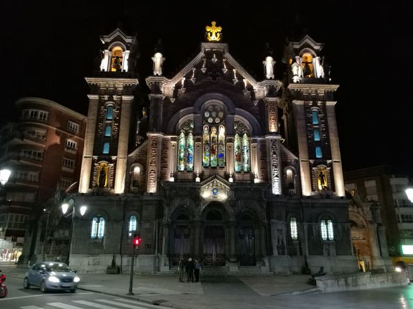Architecture Illuminated Place Of Worship Winter Travel Destinations Religion Façade No People Christmas Cold Temperature Sky Statue Outdoors
