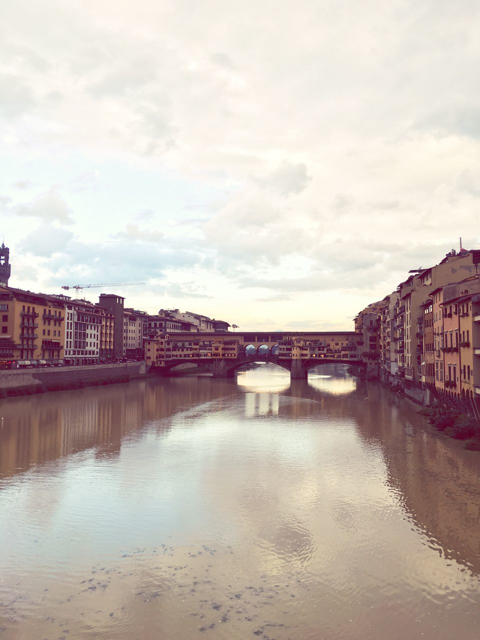 architecture, built structure, building exterior, water, sky, cloud - sky, connection, bridge - man made structure, city, no people, outdoors, travel destinations, day, nature, cityscape