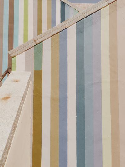 Day Railing Outdoors No People Built Structure Water Multi Colored Beach Architecture Building Exterior Sky Close-up Architecture Backgrounds Wall Wallpapers Colors Stripes Stripes Pattern Striped Painted Steps And Staircases Swimming Pool