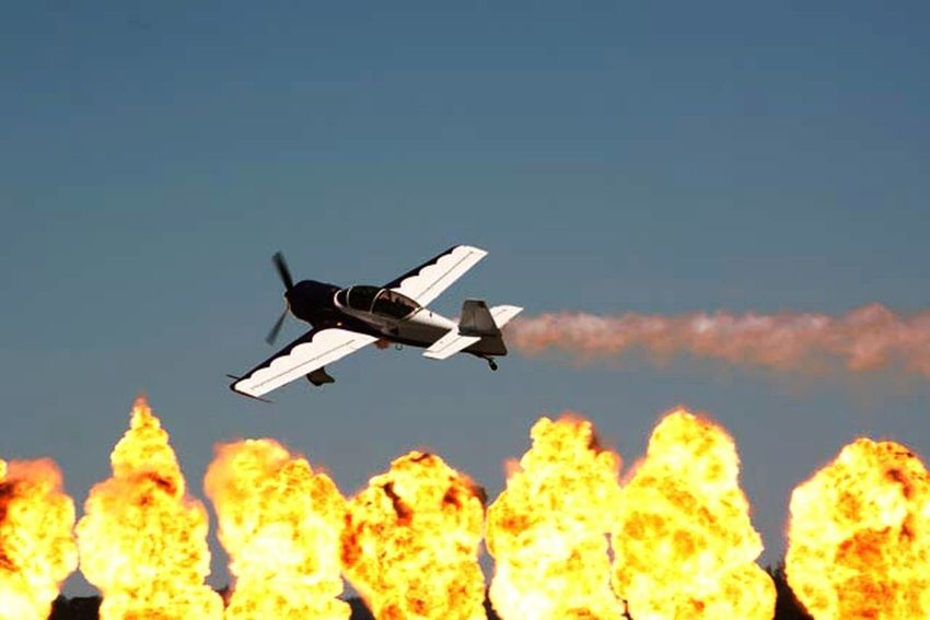 Airshow, Airplane, Dramatic, Explosion Capture The Moment