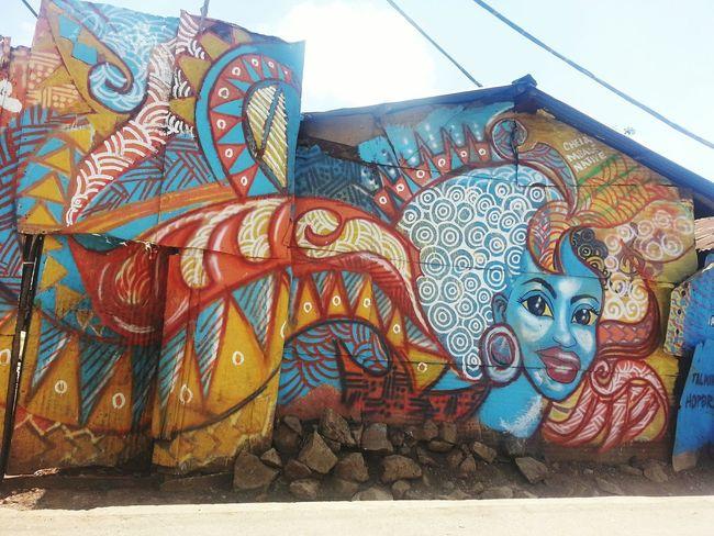 beauty all around. the talking walls project in korogocho. inspiration is made of this! Nairobi Kenya Awesomeness Kenyanart inspiration graffiti
