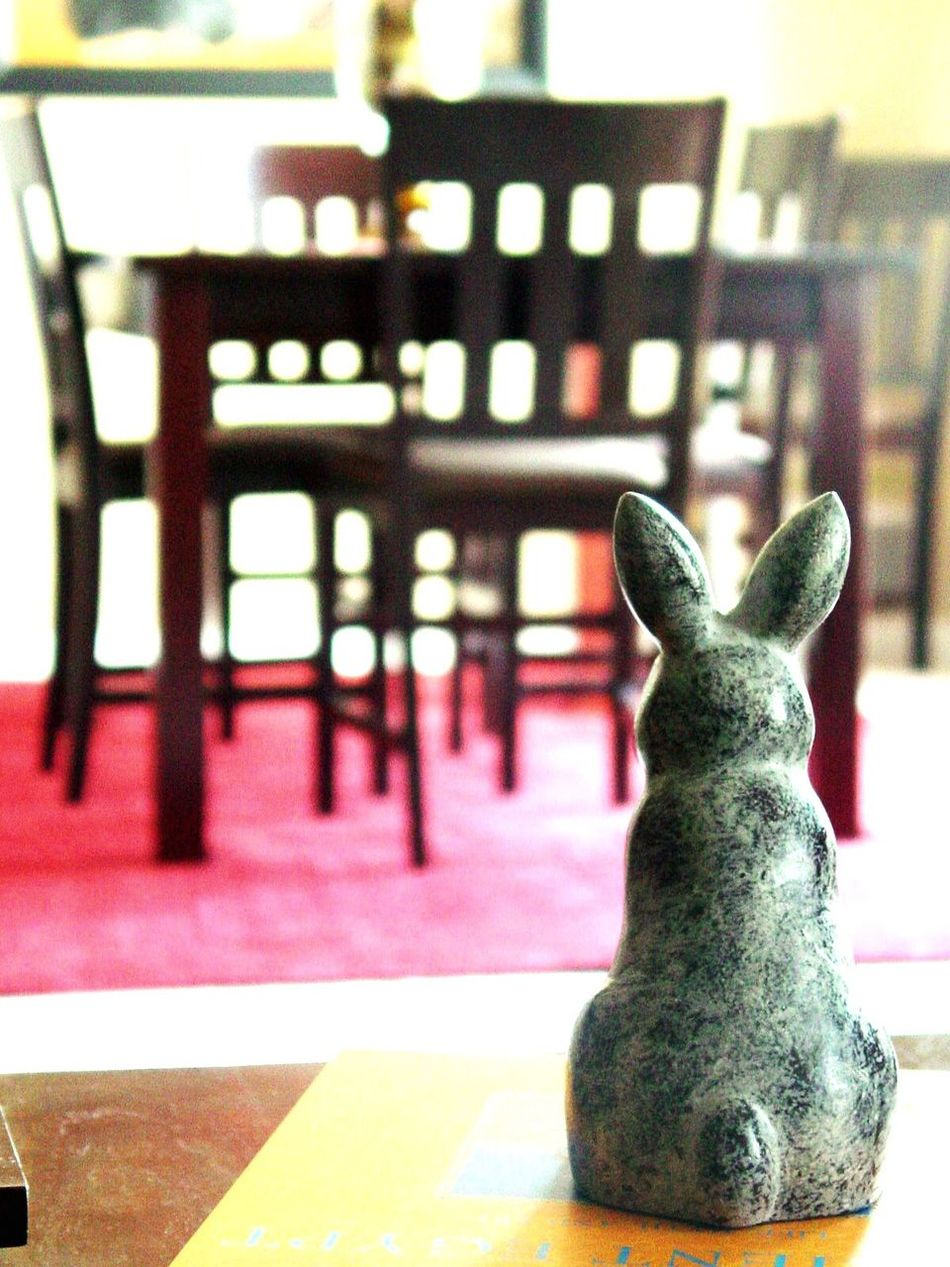 Pause Indoors  No People Close-up Statue Sculpture Day Rabbit ❤️ Interior