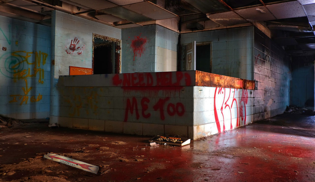 Beautiful stock photos of bloody mary, graffiti, abandoned, no people, indoors