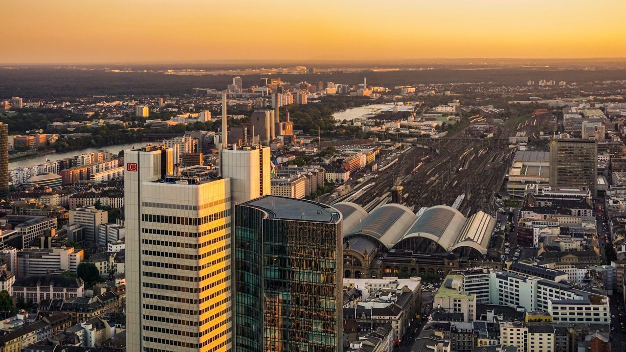Frankfurt Am Main Architecture City Cityscape Aerial View Frankfurtlovers Frankfurt Outdoors Travel Destinations No People Sunset Sky Built Structure Skyscraper Day