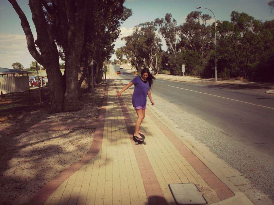 Summer Skateboarding Fun Enjoying Life Australia Purplepositivity
