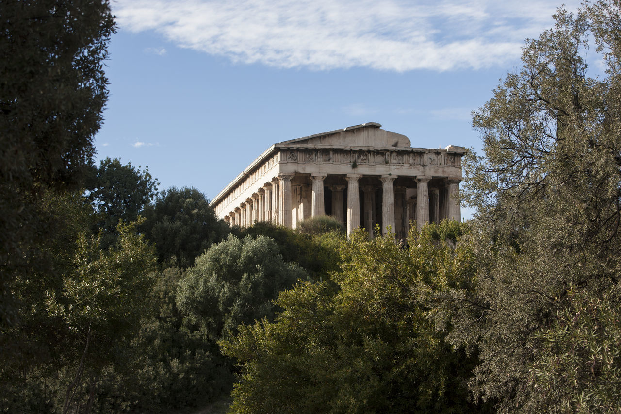 Architectural Column Architecture Façade Historic History International Landmark Outdoors Ruined Temple Of Hephaestus Thiseio Travel Destinations