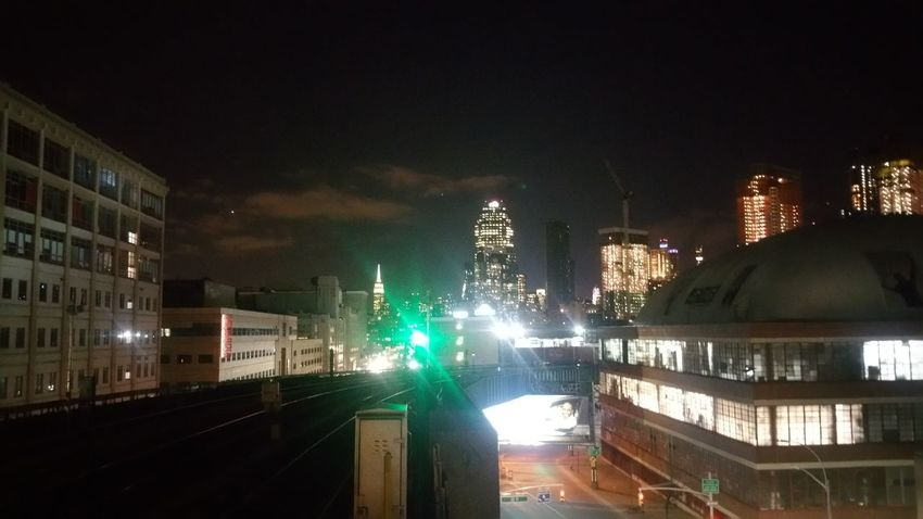 City Illuminated Night City Sky Architecture Outdoors New York New York City