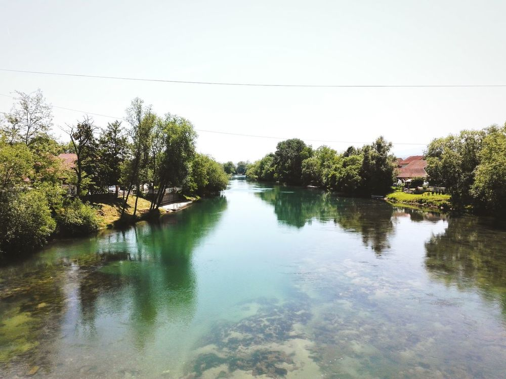 River Sanski Most Sana Green Beauty In Nature Clear Sky Summer Hot Weather