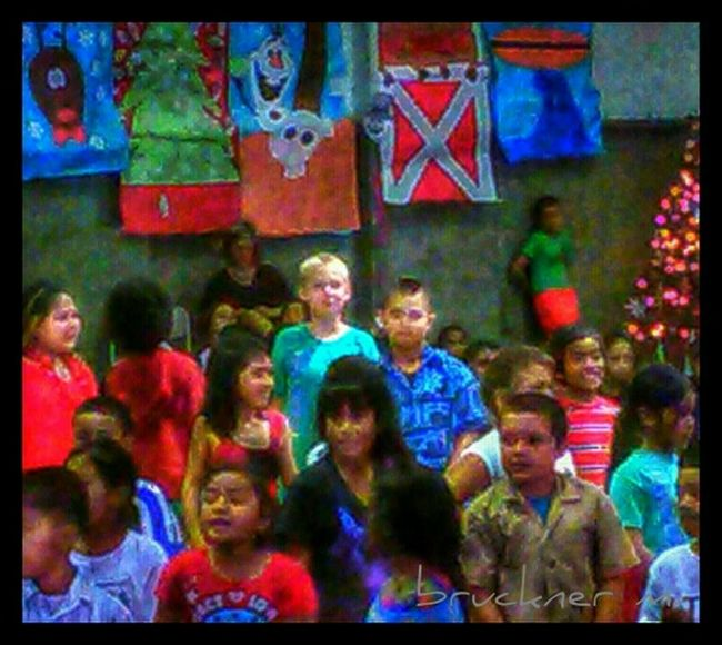 Assembly Day Bright Colors Kids Being Kids We Are The World Big Island Hawaii