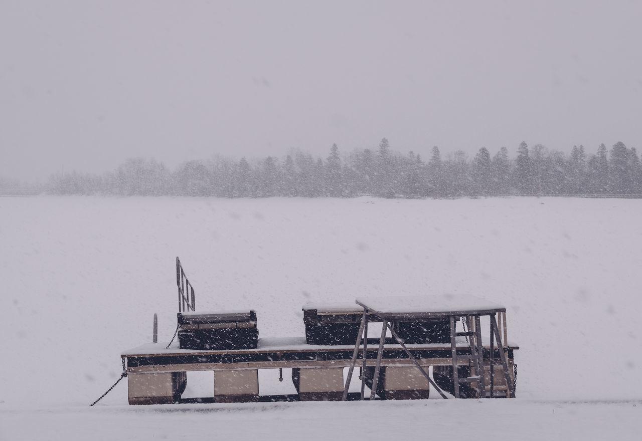Pier At Frozen Boulevard Lake