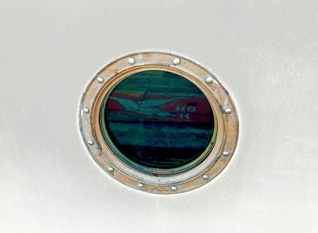Blue Boat Circle Geometric Shape IPhoneography Mode Of Transport No People Reflection Ship Studio Shot Transportation White