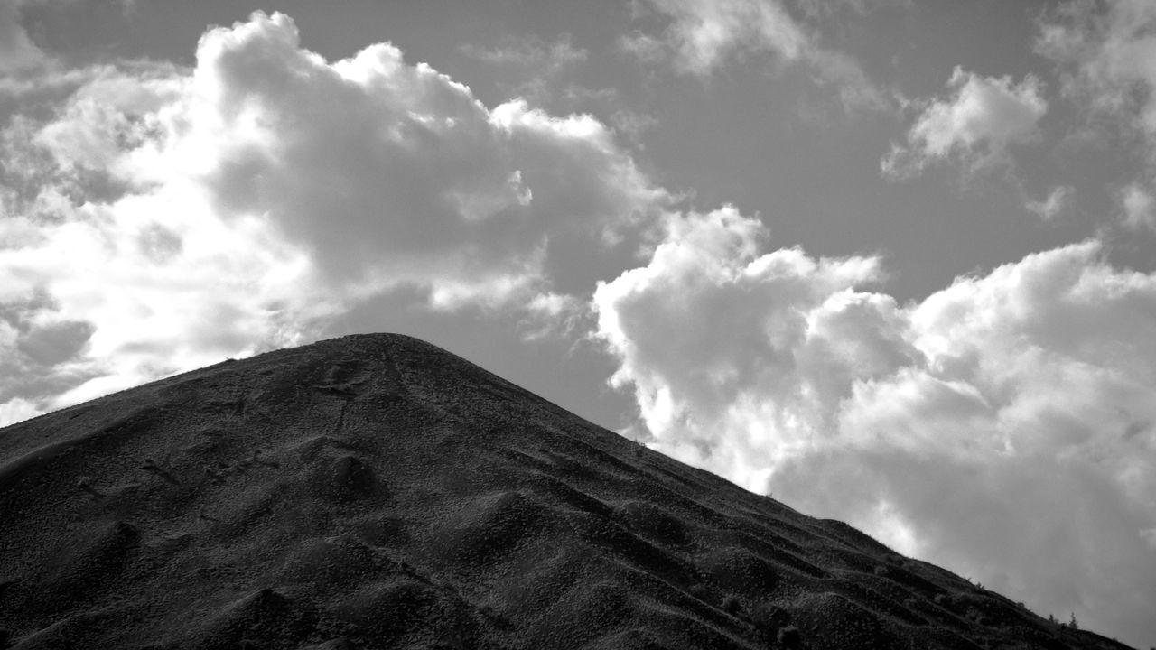 Black & White Black And White Blackandwhite Cloud Cloud - Sky Cloudy Mountain Nature No People Non-urban Scene Outdoors Sky Slag Heap Weather