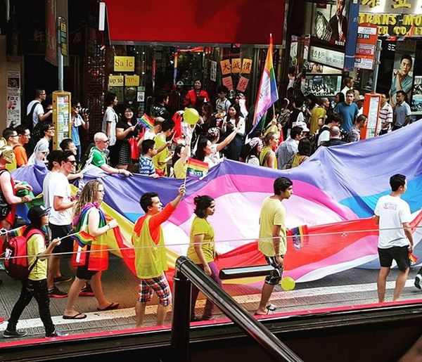 We should all be proud of our sexuality and feel comfortable to show our own beautiful and individual colours! Pride Equalrights Pridemarchhk Lgbtq Sexuality Rainbow Whogivesafuckwhoyouwannafuck Equality