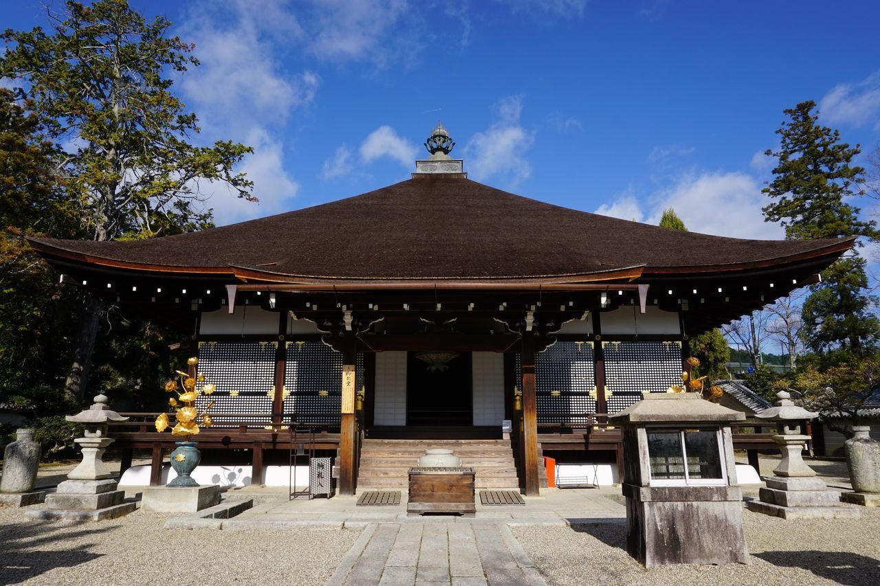 2016 Architecture City Clear Sky Japan Kyoto Religion Sky Temple Tree World Heritage 京都 仁和寺 真言宗