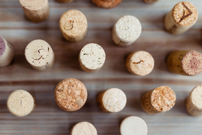 Close-up Cork Decor Focus On Foreground Food Food And Drink In A Row Large Group Of Objects Pattern Wine Wine Cork Wood - Material Wooden Still Life Wood Table Foodphotography Collection Eyeemphotography Decoration Creativity Eyeemphoto Color Palette Background