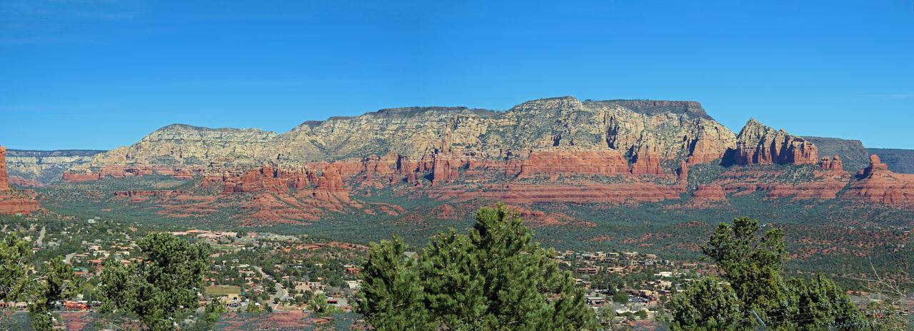 Sedona Landscape Arizona Beauty In Nature Desert Landscape Panorama Rock - Object Sedona Tourism Travel Destinations