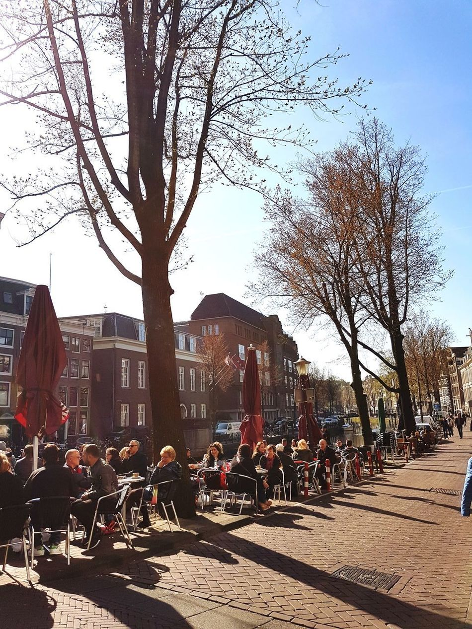 Amsterdam, 27th of March 2017 City Tree Sky City Life Outdoors Architecture Cityscape No People Skyscraper Day Buildings Canal Outdoor Eating Amsterdam Jordaan