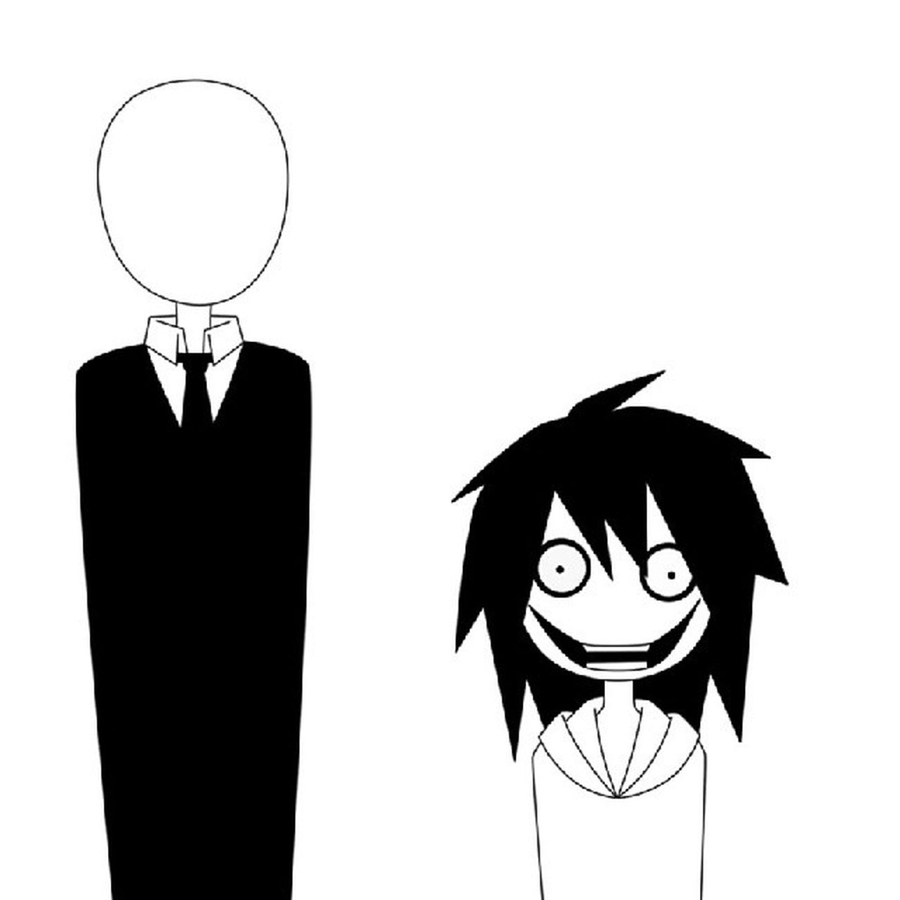 This picture looks like Jeff is that one friend Slenderman ashamed to have. Lol JeffTheKiller SlenderMan Creepypasta MarbleHornets YouTube creepy anime art nerd geek fiction maybe psycho killer gotosleep
