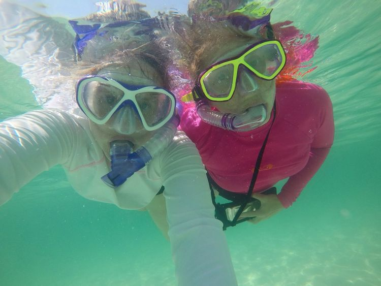 Done That. Snorkeling Vacations People Swimming Goggles Water Underwater Scuba Mask Swimming Outdoors Connected By Travel